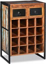 vidaXL Vinställ för 16 flaskor massivt återvunnet trä