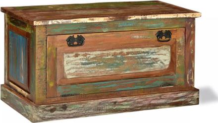 vidaXL Förvaringsbänk för skor massivt återvunnet trä