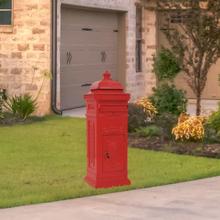 vidaXL Markpostlåda vintage stil rostfri aluminium röd