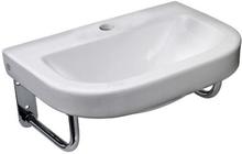 Gustavsberg Classic tvättställ 50x35 cm med kranhål, inkl. rörkonsoler