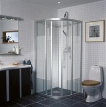 Ifö Solid Duschvägg SVR 80X80x195cm Klart glas/Aluminium profil