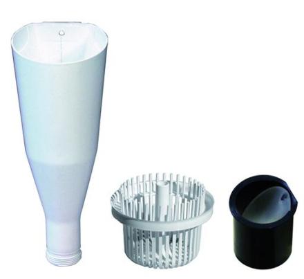 Spilltratt vit med luddfilter och luktspärr, 40XG32, vit