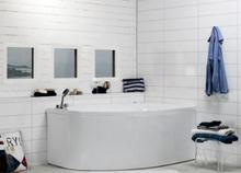Noro Sand Vänster 160x100 cm - Platinum - Bubbelbadkar