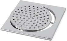 Klinkerram standard utan urtag, 200x200 mm, polerat rostfritt stål