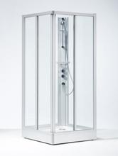 Ifö Solid SKH Duschkabin 70x90cm Klarglas m/natur anodiserade profiler och lyxduschpelare