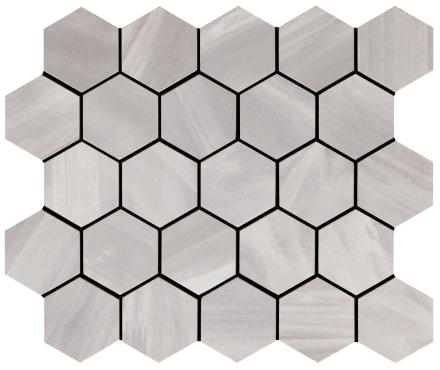 klinker wood on fire cold hexagon mosaik