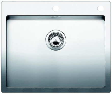 Blanco Claron 550-IF/A Diskho 61x51 cm m/Korgventil Rostfritt Stål