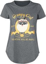 Grumpy Cat - This Movie Will Be Awefull -T-skjorte - gråmelert