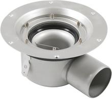 Blücher golvbrunn 75 mm - Universal sidutlopp - utan montageset och galler