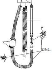 Damixa Slang till utdragspip 1500 mm