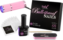 Pretty Professional Bulletproof Nails Gel Polish Kit Purple Burst 8 ml + 4 stk