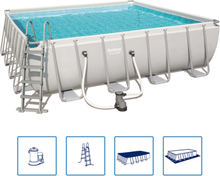 Bestway Pool Power Steel fyrkantig 488x488x122 cm 56626