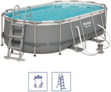 Bestway Power Steel pool oval 427 x 250 x 100 cm 56620