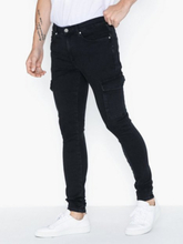 River Island Jacko Cargo Jeans Washed Black