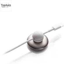 TreAsia Magnetic Cable Holder Metal - Elegant Magnetisk Kabelholder - Metal / Hvid