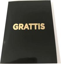 Victoria's Design Grattiskort med kuvert Svart med guldtext