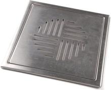 Klinkerram Super Nova, 200x200 mm, borstat rostfritt stål