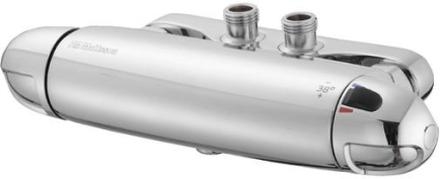 """FM Mattsson Säkerhetsblandare """"Vaska"""" för dusch, 9000 krom 40 cc för genomgående vatten"""