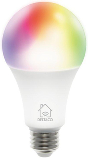Deltaco Smart Home E27 Smart Bulb m. RGB 9W - Hvid