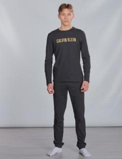 Calvin Klein, KNIT PJ SET, Sort, Undertøj till Unisex, 14-16 år
