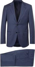 Navy Milano Easy Slim-fit Wool Suit - Navy