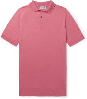 Payton Slim-fit Wool Polo Shirt - Pink