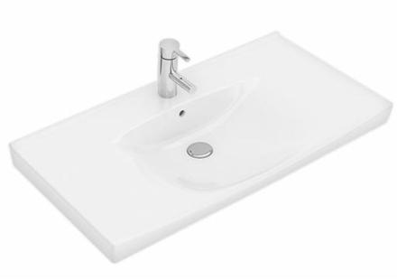 Ifö Spira möbeltvättställ 92,2x51,4 cm m/bräddavlopp och kranhål