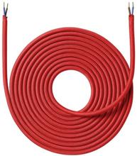 Nordlux stoffledning 2x0,75 mm², 25 meter, rød
