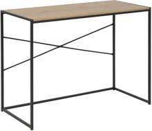 Lincoln skrivbord - Ljus ek/svart