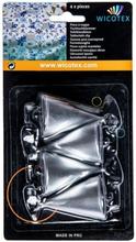 Tafelkleed hangers kegels zilver 4 stuks metaal