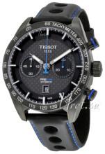 issot T100.427.36.201.00 T-Sport Prs 516 Automatic Chronograph Musta/Nahka Ø445