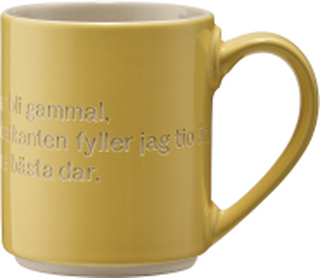 Astrid Lindgren Mugg Gul Ja tiden går