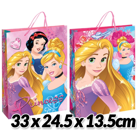 Disney Prinsesserne gavepose, fuchsia, 23*16*9 cm - TheFairytaleCompany