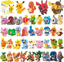 Small Building Pokemon Blocks Small Cartoon Picachu Animal Model Education Game Graphics Bricks Pokemon Toys