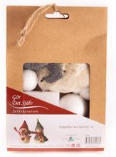 Julpyssel snögubbar med halsduk