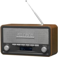 Bærbar radio DAB-18 - clock radio - Bluetooth - Stereo - Sølv