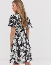 French Connection devore floral dress-Black