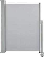 vidaXL Infällbar sidomarkis 100 x 300 cm grå