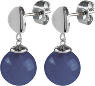 DYRBERG/KERN Örhängen Roxie Silver Blue Agate