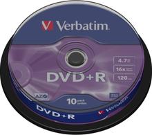 Verbatim Dvd+r, 16x, 4,7 Gb/120 Min, 10-pack Spindel, Azo