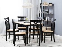 Ruokapöydän tuoli musta 2/pakk HOUSTON