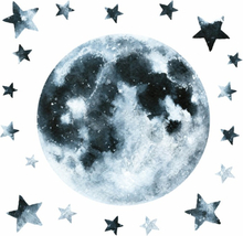 RoomMates Wallsticker Moon Glow in the Dark