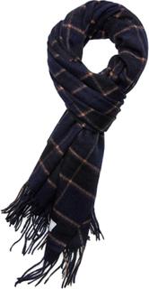 Les Deux Check Wool Scarf Tørklæde Blå Les Deux
