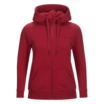 Peak Performance Women's Logo Cotton Blend Zip Hoodie Dam Tröja Lila XS