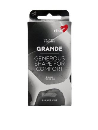 RFSU GRANDE Condoms 30-Pack Intim Transparent