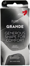 RFSU GRANDE Condoms 30-Pack Intim Transparent