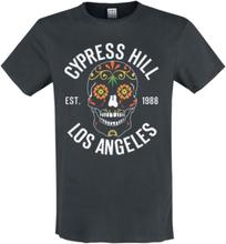 Cypress Hill - Amplified Collection - Floral Skull -T-skjorte - koksgrå