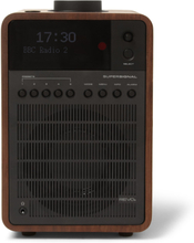 Supersignal Walnut And Aluminium Dab/dab+/fm Table Radio - Brown