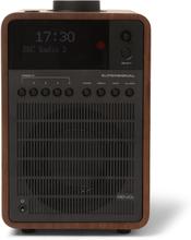 Supersignal Walnut And Aluminium Dab/dab+/fm Table Radio - Brown