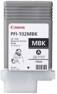 Canon PFI 102MBK - Original - Mat sort 130 ml